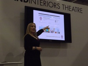 Jo Ridout presenting at Grand Designs Live