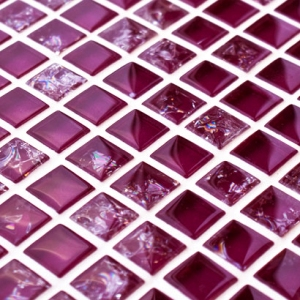 Mulberry Purple Sparkle Glass Mosaic tile from mosaicvillage.co.uk