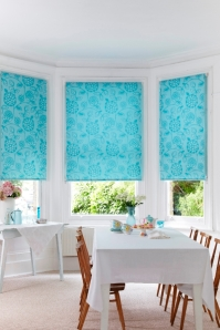 Serena Teal Roller blinds from Hillarys on A Passion for Homes