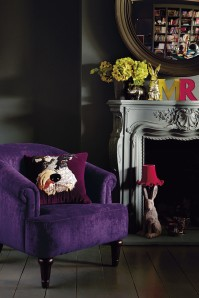 Debenhams purple chair on A Passion for Homes
