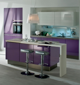 Neil Lerner Violet Kitchen on A Passion for Homes