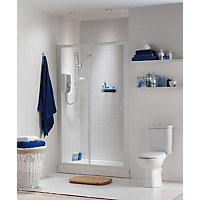 haze sliding door recess shower enclosure and tray
