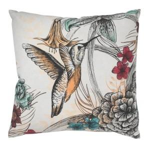hummingbird-botanical-cushion
