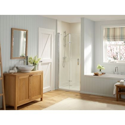 laura ashley shower enclosure bi-fold recess left hand