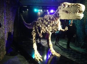 The Art of the Brick dinosaur on A Passion for Homes