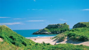 Broad Haven beach in Pembrokeshire on a passion for homes blog