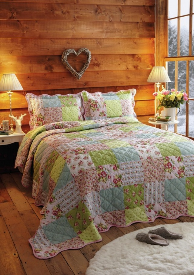 House of Bath floral patchwork quilt on a passion for homes