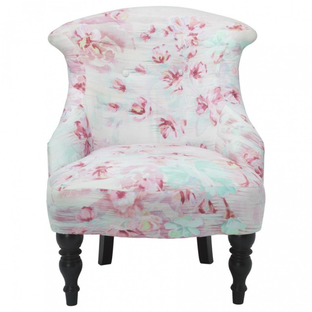 Marks and Spencer floral chair on a passion for homes blog